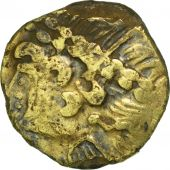 Ambiani, Fourrée 1/4 Stater, Indian head, VF(30-35), Bronze, Delestrée:69