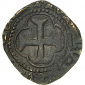 France, Louis XI, Denier Tournois, Châlons-en-Champagne, VF(30-35), Billon
