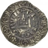 France, Charles IV, Maille Blanche, TB, Argent, Duplessy:243