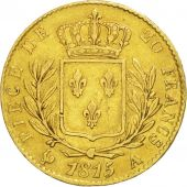 France, Louis XVIII, 20 Francs, 1815, Paris, EF(40-45), Gold, KM:706.1