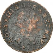 France, Louis XIII, Double Tournois, 1639, Vallée du Rhône, F(12-15), Copper