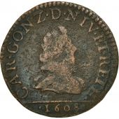 France, Ardennes, Charles Ier, Liard, 1608, Charleville, B+, Cuivre, C2G:280