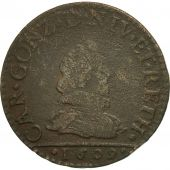 France, Ardennes, Charles Ier, Liard, 1609, Charleville, B+, Cuivre, C2G:280