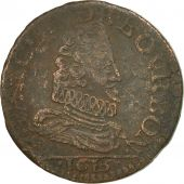 France, CHATEAU-RENAUD, François de Bourbon, Liard, 1613, VF(20-25), Copper