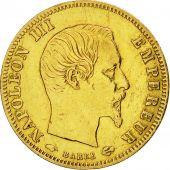France, Napoléon III, 5 Francs, 1858, Paris, TTB, Or, KM:787.1, Gadoury:1001