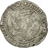 France, François Ier, Teston, 13th type, Lyon, VF(30-35), Silver, Duplessy:810
