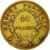 France, Napoléon I, 40 Francs, 1812, Paris, TTB, Or, KM:696.1, Gadoury:1084