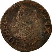 Pays-Bas espagnols, Philippe II, Gigot, 1596, Maastricht, TB, Cuivre, GH:233-2