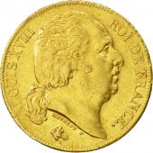 France, Louis XVIII, 20 Francs, 1819, Paris, AU(50-53), Gold, KM:712.1
