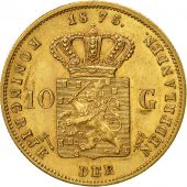 Pays-Bas, William III, 10 Gulden, 1875, SUP+, Or, KM:105