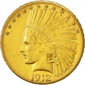 États-Unis, Indian Head, $10, Eagle, 1912, San Francisco, SUP, Or, KM:130