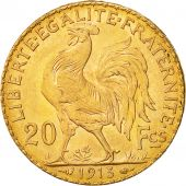 France, Marianne, 20 Francs, 1913, MS(65), Gold, KM:857, Gadoury:1064a