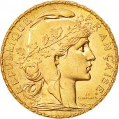 France, Marianne, 20 Francs, 1911, MS(64), Gold, KM:857, Gadoury:1064a
