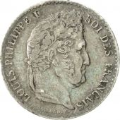 Coin, France, Louis-Philippe, 1/4 Franc, 1832, Paris, EF(40-45), Silver