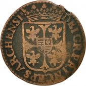 France, Ardennes, Charles Ier, Liard, 1613, Charleville, TB, Cuivre, C2G:286