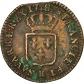 Coin, France, Louis XVI, Sol ou sou, Sol, 1783, Orléans, VF(30-35), Copper
