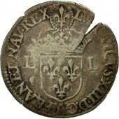 Monnaie, France, Louis XIII, Quinzain, 1641, Paris, TB+, Billon, Gadoury:22