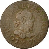 Monnaie, France, Louis XIII, Double Tournois, 1615, Amiens, TB, Cuivre, CGKL:264