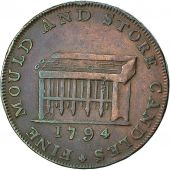 Coin, Great Britain, F Shackelton, Halfpenny Token, 1794, Middlesex, EF(40-45)