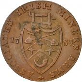 Coin, Ireland, Wicklow, Halfpenny Token, 1789, Cronebane, AU(50-53), Copper
