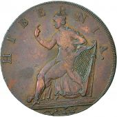 Coin, Ireland, Wicklow, Halfpenny Token, 1789, Cronebane, VF(30-35), Copper