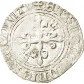 Coin, France, Charles VI, Florette, Poitiers, EF(40-45), Billon, Duplessy:387A