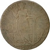 Coin, Great Britain, Lincolnshire, Halfpenny Token, 1793, Wainfleet, VF(20-25)