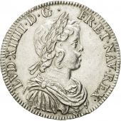 Coin, France, Louis XIV, 1/2 Écu à la mèche courte, 1644, Paris, AU(55-58)