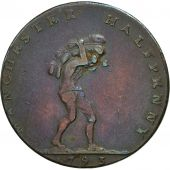 Coin, Great Britain, Lancashire, Halfpenny Token, 1793, Manchester, EF(40-45)