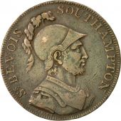 Coin, Great Britain, Hampshire, Halfpenny Token, 1791, Southampton, EF(40-45)