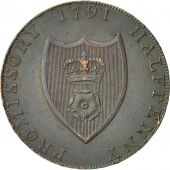 Coin, Great Britain, Hampshire, Halfpenny Token, 1791, Southampton, AU(55-58)