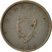Coin, Ireland, George III, 1/2 Penny, 1805, VF(30-35), Copper, KM:147.1