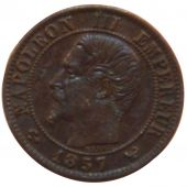 Second Empire, 1 Centime Napoléon III Naked Head
