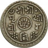 Monnaie, Népal, SHAH DYNASTY, Prithvi Bir Bikram, 1/2 Mohar, 1904, TTB+