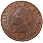 Second Empire, 1 Centime Napoléon III Laureate Head