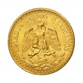 Coin, Mexico, 2 Pesos, 1945, Mexico City, AU(55-58), Gold, KM:461