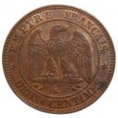 Second Empire, 2 Centimes Napol�on III Naked Head