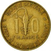 West African States, 10 Francs, 1970, TTB, Aluminum-Nickel-Bronze, KM:1a