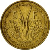 French West Africa, 5 Francs, 1956, TTB, Aluminum-Bronze, KM:5