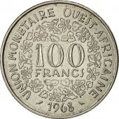 West African States, 100 Francs, 1968, TTB+, Nickel, KM:4