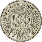 West African States, 100 Francs, 1971, SUP, Nickel, KM:4