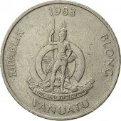 Vanuatu, 20 Vatu, 1983, British Royal Mint, EF(40-45), Copper-nickel, KM:7