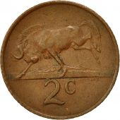 South Africa, 2 Cents, 1965, EF(40-45), Bronze, KM:66.1