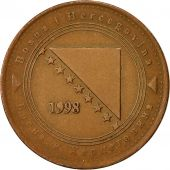 BOSNIA-HERZEGOVINA, 50 Feninga, 1998, TTB, Copper Plated Steel, KM:117