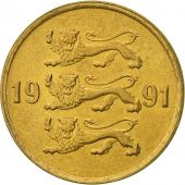Estonia, 10 Senti, 1991, no mint, SUP, Aluminum-Bronze, KM:22