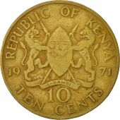 Kenya, 10 Cents, 1971, VF(30-35), Nickel-brass, KM:11