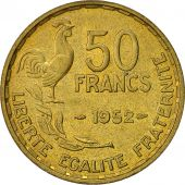 France, Guiraud, 50 Francs, 1952, Paris, EF(40-45), Aluminum-Bronze, KM:918.1