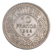 Tunisie, Ahmed Bey, 10 Francs
