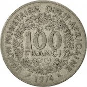 West African States, 100 Francs, 1974, Paris, TB+, Nickel, KM:4