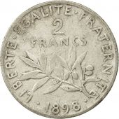 France, Semeuse, 2 Francs, 1898, Paris, VF(30-35), Silver, KM:845.1, Gadoury:532